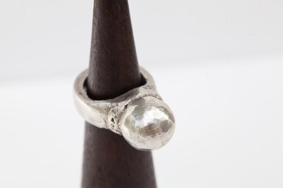 SALE-50%+ off-Metal Clay Silver - Domed Statement Ring