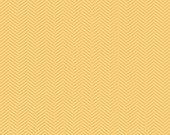 "Riley Blake Designs ""Apple of My Eye"" by The Quilted Fish - Yellow Herringbone - 1/2 yard"