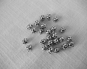 STERLING SILVER 25-Count 10mm LANTERN Shaped Spacer Beads for Jewelry Making   Spacers Lanterns Flowers