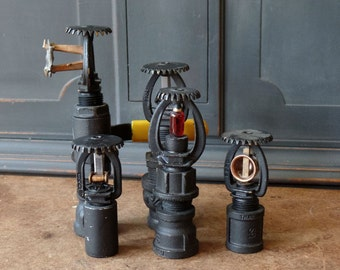 5 Industrial Sprinkler Heads, Vintage, Steampunk, Home Decor, Salvaged, Upcycled, Repurposed