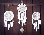 Wedding Decoration Dream Catchers - 3 Dream Catchers - Boho Decor, Tribal Wedding, Native Mobiles