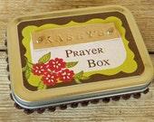 Personalized Prayer Box - Christian spiritual religious gift idea for birthday, baptism, confirmation altoid tin