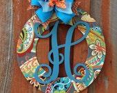 Wreath Door Hanger Personalized Door Wreath Wood Wreath Housewarming Gift Home Decor Wedding Gift Wall Decor Front Door Hanger