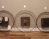 Vintage Bicycle Wheel Wall Art
