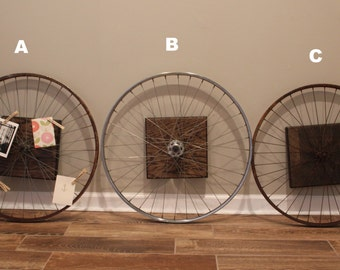 Bike Wall Art bicycle wheel | etsy