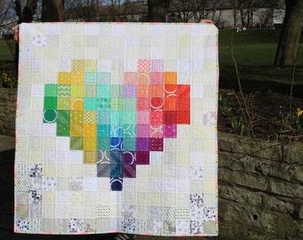Custom Made Quilt, Patchwork quilt, Handmade to Order, Heart Quilt, Bespoke quilt, Twin quilt, Throw, quilted blanket, Nursery Decor