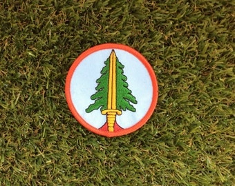 Twin Peaks inspired Bookhouse Boys iron-on replica fan patch David Lynch LogLady Cooper Audrey Laura Palmer Damn Fine Coffee Owl 90s tv-show