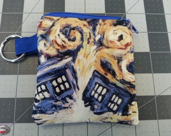 Doctor Who Exploding TARDIS Coin Pouch Change Purse Keychain