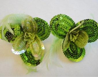 Sequin flower, flower pin  33-197