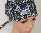 Pleated back Surgical Scrub Hat with band. Star Wars 21293