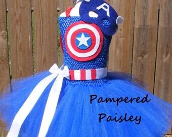 superhero  tutu dress - Captain America inspired tutu