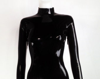 Long sleeve latex rubber top by Vex Clothing