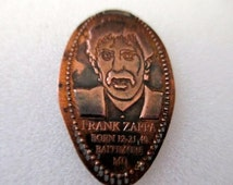 Zappa Frank Zappa Squashed Collectible Souvenir Coin or Medal
