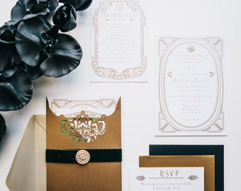 Great Gatsby Luxe Invitations