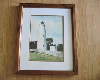 Ocracoke Lighthouse, Original Watercolor, Ocracoke Island North Carolina, Connie Burke Artist East Coast Fine Art
