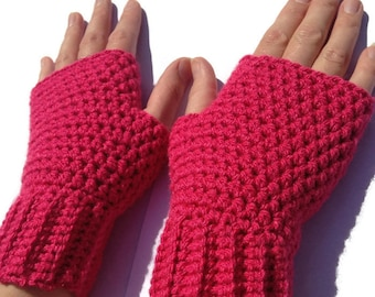 Womens fingerless gloves, crochet gloves, fingerless mittens, gifts for women, wrist warmers.