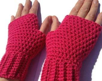 Womens fingerless gloves, crochet gloves, fingerless mittens, gifts for women, wrist warmers.
