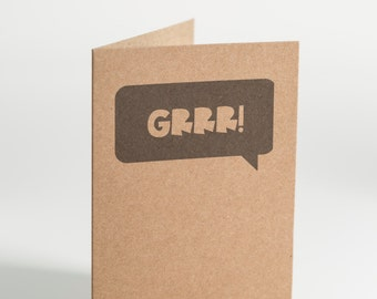 GRRR Speech Bubble Notecard