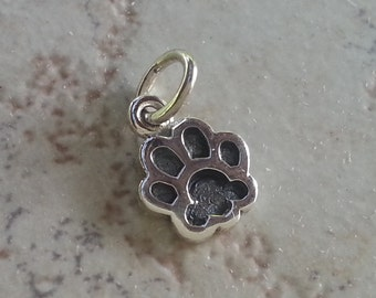 Small Sterling Silver Dog Paw Pendant to be added to your Custom Memorial Pendant