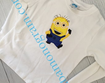 Monogrammed Minions Applique Shirt or Outfit