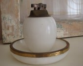 Vintage Marble Lighter And Ashtray