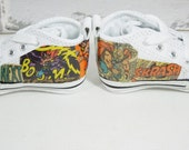 Comic Book Baby Converse. Custom Made. Baby's First Shoes. Photo Shoot. Shadow Box. Baby Shower Gift for Nerds.
