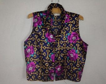 silk rose sleeve less shirt size M/L