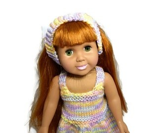 18 inch Doll Dress with Headband with Matching Girl Headband