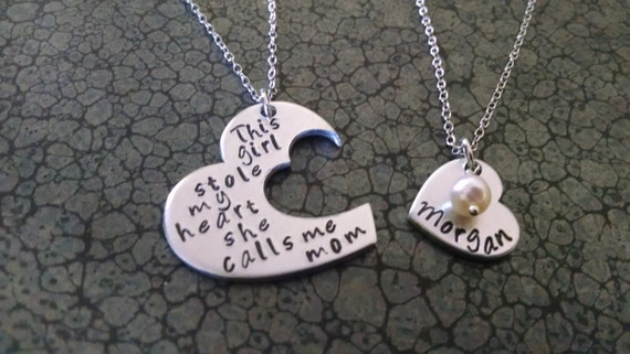 Mother Daughter Jewelry Mother Daughter Necklaces This Girl Stole My Heart She Calls Me Mom