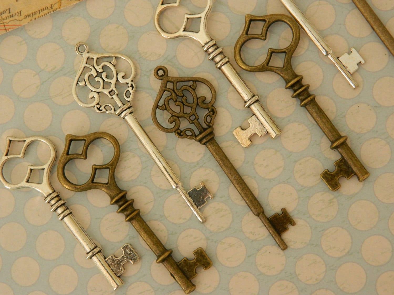 20 Skeleton Keys Wedding Key Bulk Keys Pendant Home Decor