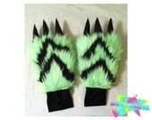 Green & Black Monstar Paws