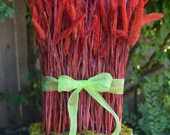 Floral Arrangement, Cottage Decor, French Country Decor, Dried Flower Arrangement