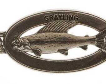 Pewter ~ Grayling Keychain ~ FK038