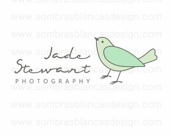 OOAK Premade Logo Design - Jade Bird - Perfect for a jewelry or handmade goods business