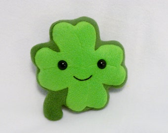 Plush four leaf clover stuffed toy