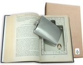 SneakyBooks Hollow Book Safe & Flask (hand cut from repurposed book) by Greenfire Products