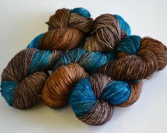 Hand dyed yarn pick your base - Vandyke - sw merino cashmere nylon fingering dk worsted