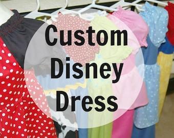 CUSTOM Disney Princess Dresses  - 100% Cotton Whimsical Wende WDW Vacation