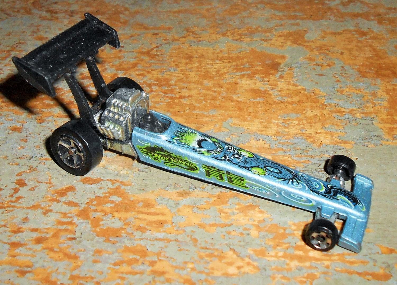 vintage toy car drag car hot wheels drag racing car blue. Black Bedroom Furniture Sets. Home Design Ideas