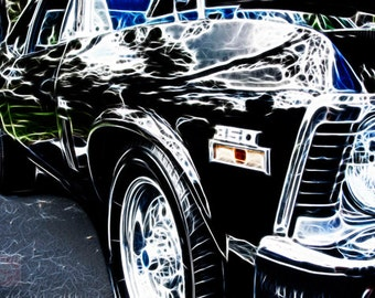 Classic Nova 350 '72 Muscle Car - Fine Art Photography Print Picture on Dye Infused Aluminum