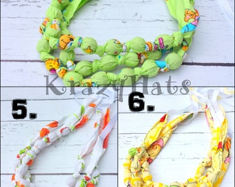 Nursing Necklace.Teething Necklace. Fabric Necklace.