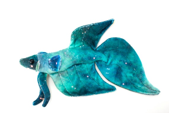 Galaxy betta fish stuffed animal plush toy custom minky for Betta fish toys