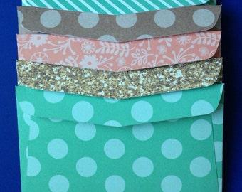 Glitter and Glam Envelopes - Set of 5