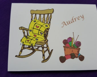 Personalized Knitting Note Cards