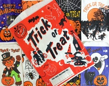 Halloween Paper Treat Bags* 9 Vintage Halloween Assorted Trick or Treat Candy Bags