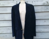 Mens Vintage Velvet Smoking Jacket Lord and Taylor 40 42