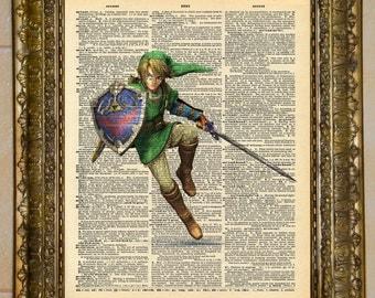 Legend of Zelda Link Smash Bros Dictionary Art