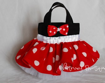 Red Minnie Mouse (White Band)Tote Bag
