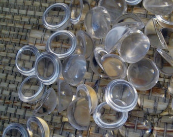 Acrylic Cabochons, 3/4 inch size, pack of 50