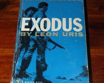 Vintage Romance Drama 1950's Exodus Leon Uris 1959